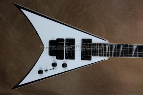 Jackson USA KV2 King V Snow White with Black Bevels Guitar