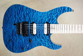 McNaught DJ+ Series Peacock Blue Diamond Quilt Top Electric Guitar