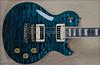 McNaught DTM Vintage Single Cut Peacock Blue Diamond Quilt Top Guitar