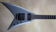 Washburn Custom Shop WV546 Satin Galaxy Grey Flying V Electric Guitar