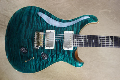 PRS Paul Reed Smith Custom 24 Artist Pkg Flame Maple 57/08 Turquoise Guitar