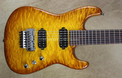 Charvel USA San Dimas Custom Shop 7 String Hand Stained Amber Burst Guitar