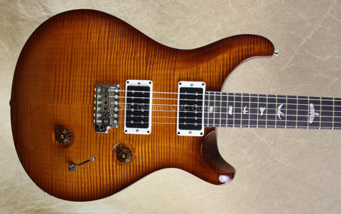 PRS Paul Reed Smith Custom 24 Violin Amber Sunburst 10 Top Guitar