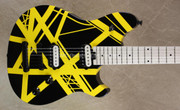 EVH Wolfgang Special LTD Black and Yellow Striped Guitar
