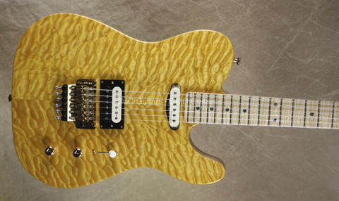 Fender Custom Shop Telecaster Masterbuilt John Cruz Floyd Rose Tele Yellow Amber Guitar