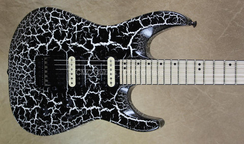 Jackson Pro Series DK2M Dinky Limited Run Black and White Crackle Guitar