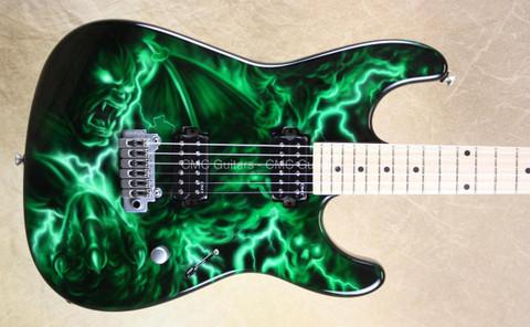 Dean USA Custom Shop 74 Green Demon NAMM Guitar