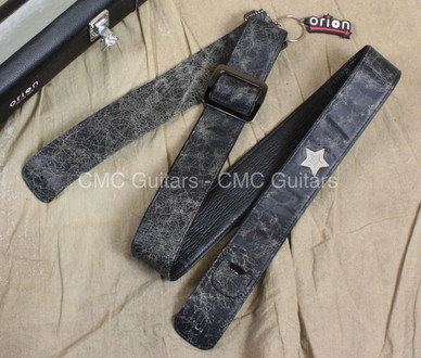 "Orion Guitar Gear Distressed 2"" Leather Guitar Strap with Case"