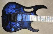 Ibanez JEM77P Steve Vai Signature JEM Premium Series Blue Floral Guitar
