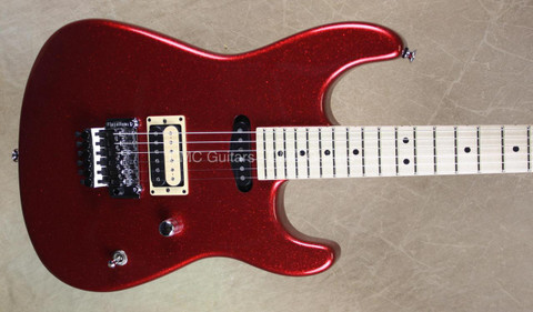 Charvel USA Custom Shop San Dimas Mahogany Red Sparkle Guitar