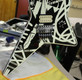 EVH Stripe Series Star Black and White Guitar with FU Tone Upgrades