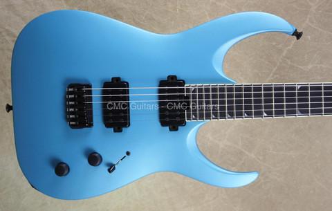 Jackson USA Misha Mansoor Juggernaut HT6 Matte Blu Frost Guitar
