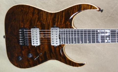 Jackson USA Misha Mansoor Juggernaut HT7 Bulb Amber Tiger Eye 7 String Guitar