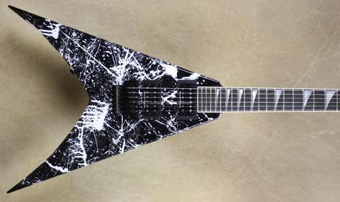Jackson USA Custom Shop Double Rhoads King V Black White Splatter Guitar