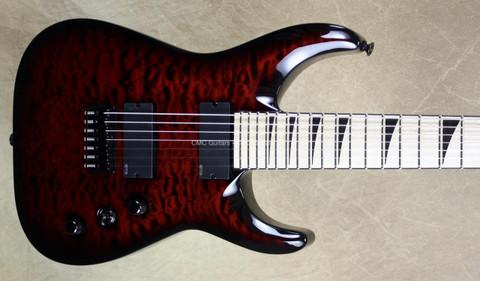 Jackson Custom Shop USA SL2HT Arch Top Soloist 7 String Trans Crimson Guitar
