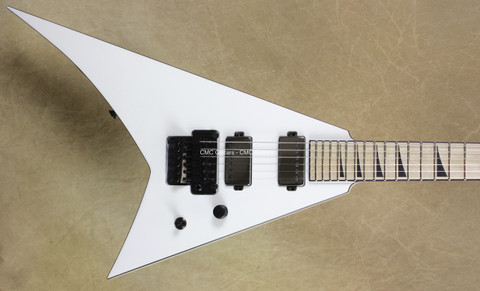 Jackson USA Custom Shop Flat Top RR24 Randy Rhoads Snow White Guitar