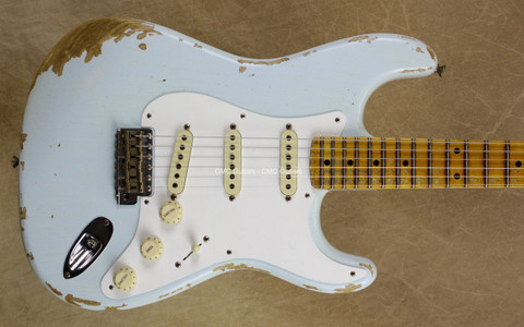 Fender Custom Shop LTD '56 Strat Heavy Relic NAMM Stratocaster Faded Sonic Blue Guitar