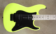 Charvel Pro Mod So-Cal Style Neon Yellow Guitar with FU Tone Big Brass Block