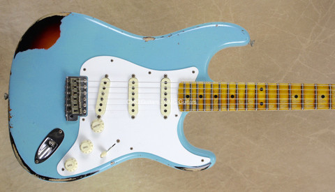 Fender Custom Shop Strat Mischief Maker Heavy Relic Daphne Blue Stratocaster Guitar