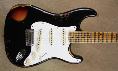 Fender Custom Shop Strat Mischief Maker Heavy Relic Black Stratocaster Guitar