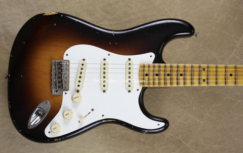 Fender Custom Shop Limited '56 Relic Stratocaster Wide Fade 2 Tone Sunburst Strat Guitar