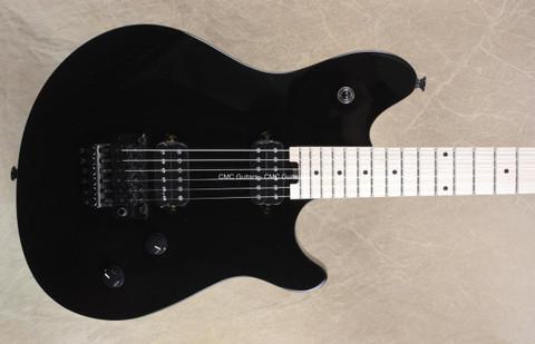 EVH Wolfgang Standard Black Guitar Upgraded with FU Tone Brass Block