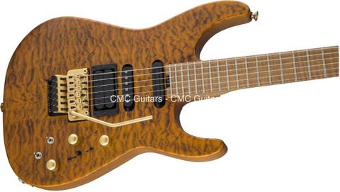 Jackson USA Signature PC1 PHIL COLLEN Satin Trans Amber Guitar