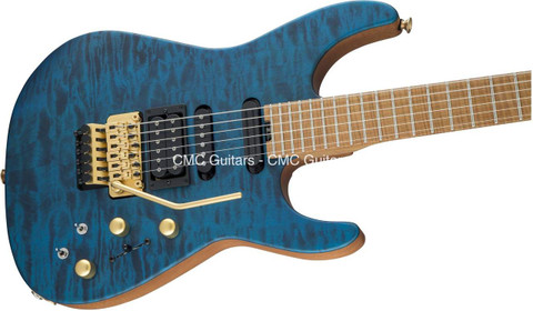 Jackson USA Signature PC1 PHIL COLLEN Satin Trans Blue Guitar