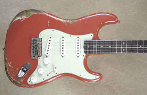 Fender Custom Shop LTD 60's Strat Heavy Relic Stratocaster Aged Tahitian Coral Guitar