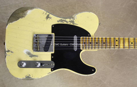 Fender Custom Shop '51 Telecaster Heavy Relic Nocaster Blonde Tele Guitar