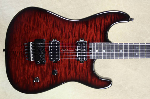 Charvel USA San Dimas Custom Shop 2H Cabernet Burst Guitar