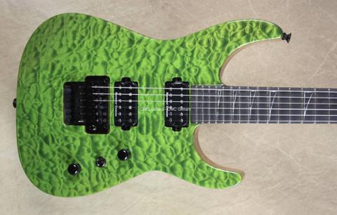 Jackson USA Custom Shop SL2H-MAHQ Soloist Gator Green Guitar
