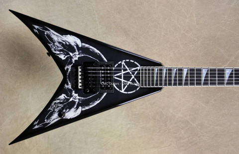 Jackson USA Custom Shop KV2 King V 1 Hum Goat Skull Black Guitar