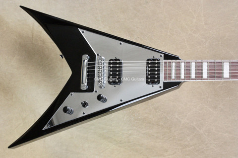 Jackson Signature Scott Ian King V KVXT Black Mirror Pickguard Guitar