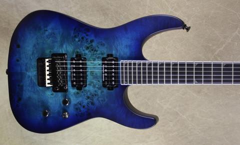 Jackson Pro Series SL2P MAH Mahogany Soloist Poplar Burl Top Aqua Shok Guitar