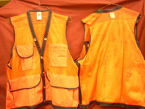 Jim-Gem 8-Pocket Cordura Nylon Mesh Cruiser Vest- Orange