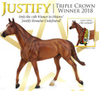 Breyer Horses Traditional Triple Crown Winner Justify