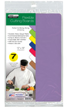 """Chop-Chop Food Service Color Coded Flexible Cutting Boards, Size 12"""" x 18"""", Pack of 7"""