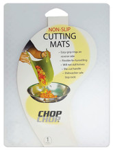 "Chop-Chop Non-Slip Flexible Cutting Board(Clear), Size 11"" x 15"""