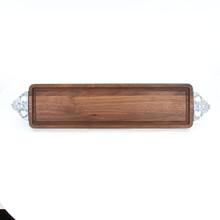 Bread Board - Walnut (w/ Scalloped Handles)