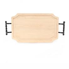 "Selwood 15"" x 24"" Cutting Board - Maple (w/ Twisted Ball Handles)"
