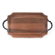 """Selwood 15"""" x 24"""" Cutting Board - Walnut (w/ Twisted Handles)"""
