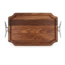 """Selwood 12"""" x 18"""" Cutting Board - Walnut (w/ Cleat Handles)"""