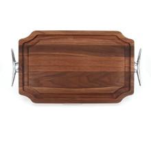 """Selwood 15"""" x 24"""" Cutting Board - Walnut (w/ Cleat Handles)"""