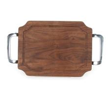 """Selwood 9"""" x 12"""" Cutting Board - Walnut (w/ Polished Handles)"""