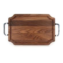 """Selwood 12"""" x 18"""" Cutting Board - Walnut (w/ Polished Handles)"""