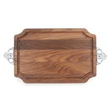 "Selwood 12"" x 18"" Cutting Board - Walnut (w/ Scalloped Handles)"
