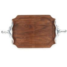 """Selwood 9"""" x 12"""" Cutting Board - Walnut (w/ Long Horn Handles)"""