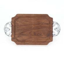 """Selwood 9"""" x 12"""" Cutting Board - Walnut (w/ Classic Handles)"""