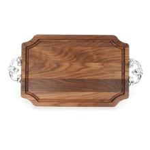 """Selwood 12"""" x 18"""" Cutting Board - Walnut (w/ Classic Handles)"""
